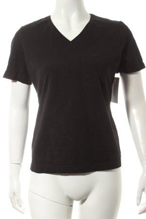 van Laack T-Shirt schwarz Casual-Look