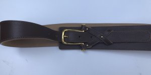 van Laack Cinturón pélvico marrón oscuro-color oro