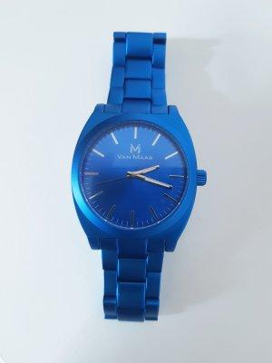 Horloge staalblauw