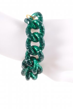 Vanessa Baroni Armband dunkelgrün-goldfarben extravaganter Stil
