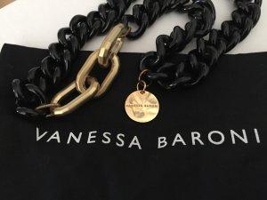 VANESSA BARONI Gliederkette in schwarz-gold