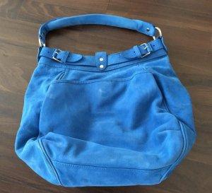 Vanessa Bruno Beutel Sac Leder Handtasche Tasche Kornblumenblau Blau Blogger Iro Maje Sandro