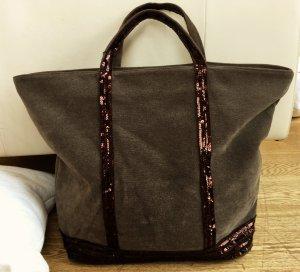 * VANESSA  BRUNO  * CABAS GRAND BAG XL SHOPPER TASCHE Textil  PALLIETTEN bronze
