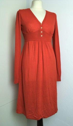 Vanessa Bruno Midi Dress dark orange mixture fibre