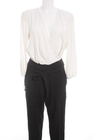 Vanessa Bruno Jumpsuit creme-schwarz Elegant