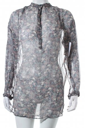 Vanessa Bruno Long-Bluse florales Muster Transparenz-Optik