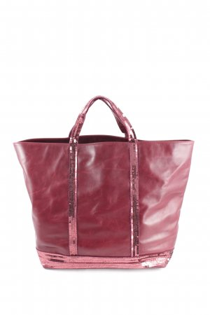 Vanessa Bruno Shopper bordeauxrot Glitzer-Optik