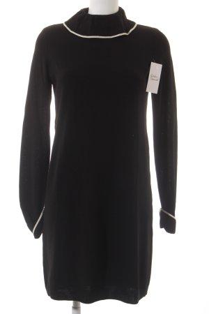 Vanessa Seward Strickkleid schwarz-wollweiß klassischer Stil