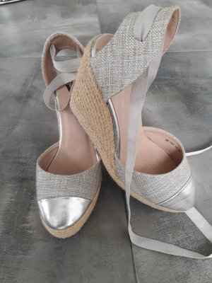 Wedge Sandals silver-colored-gold-colored