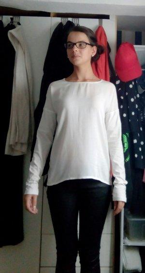 Vanilia Blouse à manches longues blanc-blanc cassé