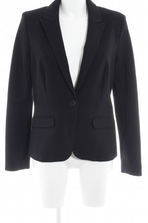 Vanilia Kurz-Blazer schwarz Business-Look
