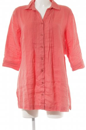 Vanilia Linnen blouse lichtrood Beach-look
