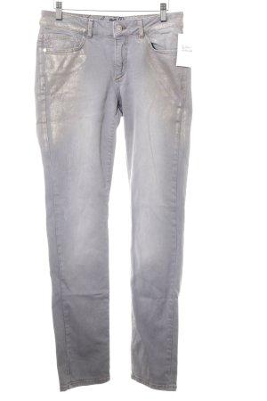 Vanilia Slim Jeans grau-goldfarben Casual-Look