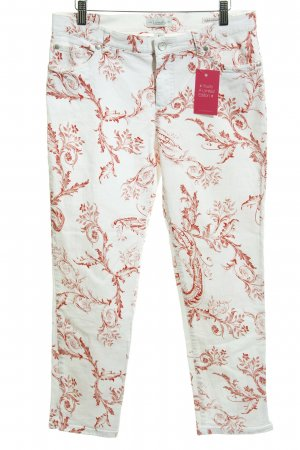 Vanilia Stretch Trousers white-brick red floral pattern casual look