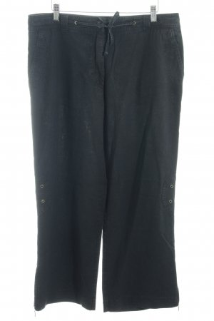 Vanilia Wollen broek zwart casual uitstraling