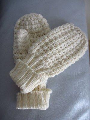 Gloves natural white-oatmeal