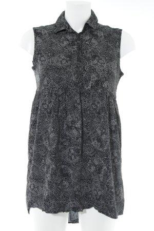 Vans ärmellose Bluse schwarz-weiß Punktemuster Casual-Look