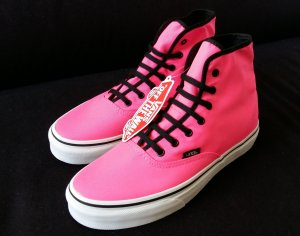 Vans Authentic Hi Neon Pink