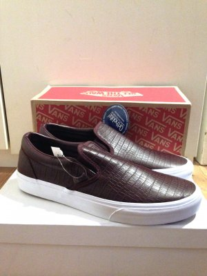 "Vans ""Classic Slip-On CA"" in bordeaux, Gr. 41, echtes Leder"