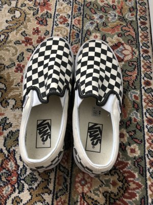 Vans Basket slip-on blanc-noir