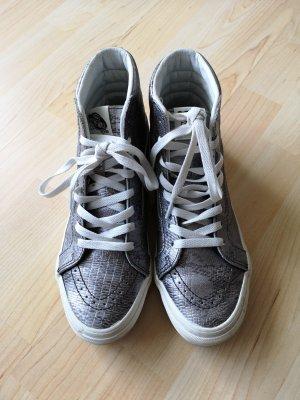 Vans High Sneaker Leder Silber wNEU