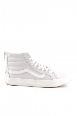 Vans High Top Sneaker hellgrau-weiß Steppmuster Casual-Look