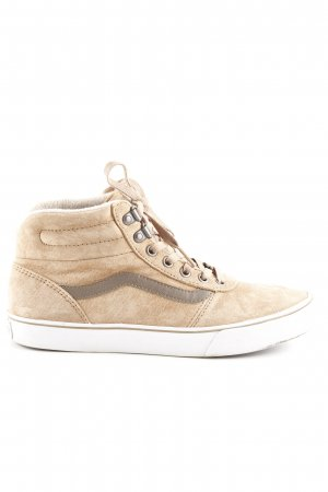 Vans High Top Sneaker hellbraun-graubraun Casual-Look