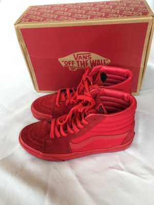 Vans High Top Sneaker rot Wildleder gr 38,5