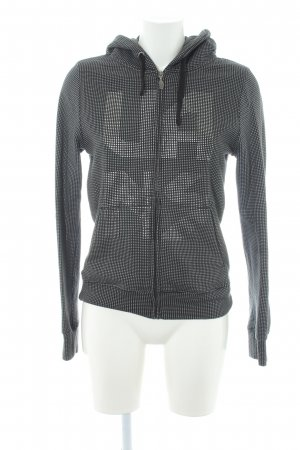 Vans Kapuzensweatshirt schwarz-silberfarben Punktemuster Casual-Look