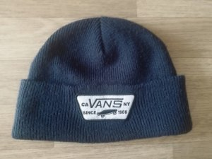 Vans off the Wall Skateboarding Strick Mütze blau