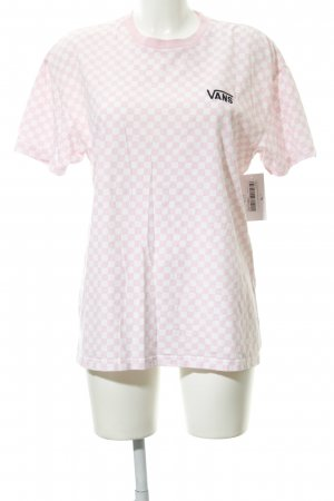 Vans Top extra-large blanc-rose imprimé allover style décontracté