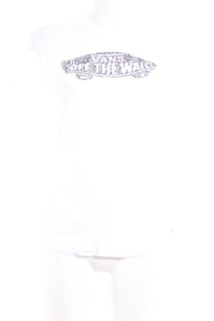 Vans Print-Shirt weiß-dunkelgrau Motivdruck Skater-Look