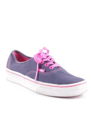 Vans Schnürschuhe dunkelblau-violett sportlicher Stil