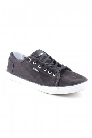 Vans Schnürschuhe schwarz-weiß sportlicher Stil