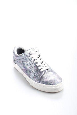 Vans Schnürschuhe silberfarben-weiß Farbverlauf extravaganter Stil