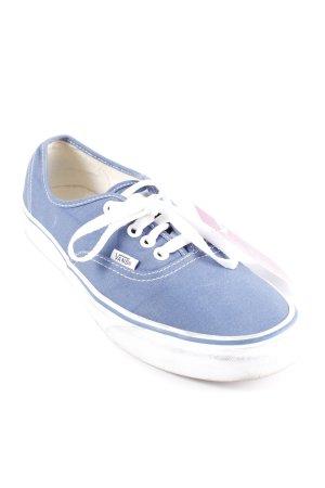 Vans Schnürschuhe weiß-blau Casual-Look