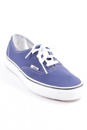 Vans Schnürschuhe weiß-blau sportlicher Stil