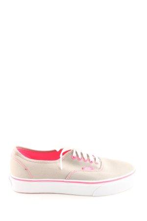 Vans Schnürsneaker wollweiß-pink Casual-Look