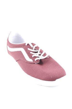 Vans Schnürsneaker purpur-weiß sportlicher Stil