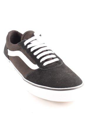 Vans Schnürsneaker schwarz-weiß sportlicher Stil