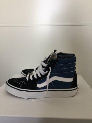 Vans Sk8 Hi in schwarz/blau in Größe 37