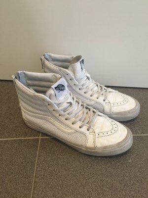 Vans SK8-HI leather white zip