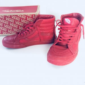 Vans Sk8 Hi Reissue Chili Pepper Gr. 37 rot snake Leather Leder