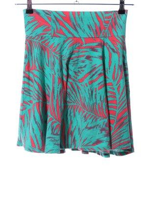 Vans Skater Skirt turquoise-red flower pattern casual look