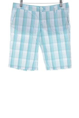 Vans Skorts baby blue-white check pattern beach look
