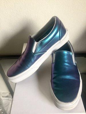 Vans Slip-On in shiny metallic blau- Mermaid Style