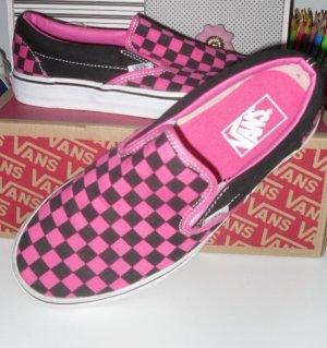 Vans Slip Ons in Hot Pink u. Schwarz im Originalkarton