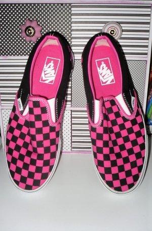 Vans Slip Ons in Hot Pink und schwarz Gr.40