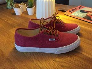 VANS Sneaker in Canvas mit Lederschnürsenkeln Gr. 38 - neuwertig