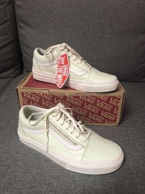 Vans Sneaker Old Skool Zip Low-Top Schuhe Retro Leder Mint Grün Ambrosia Reißverschluss 36,5 37